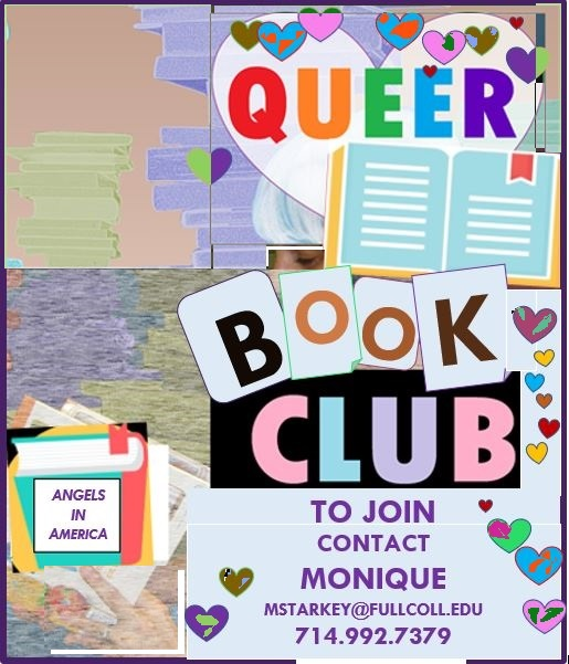 queer book club flyer to contact monique starkey