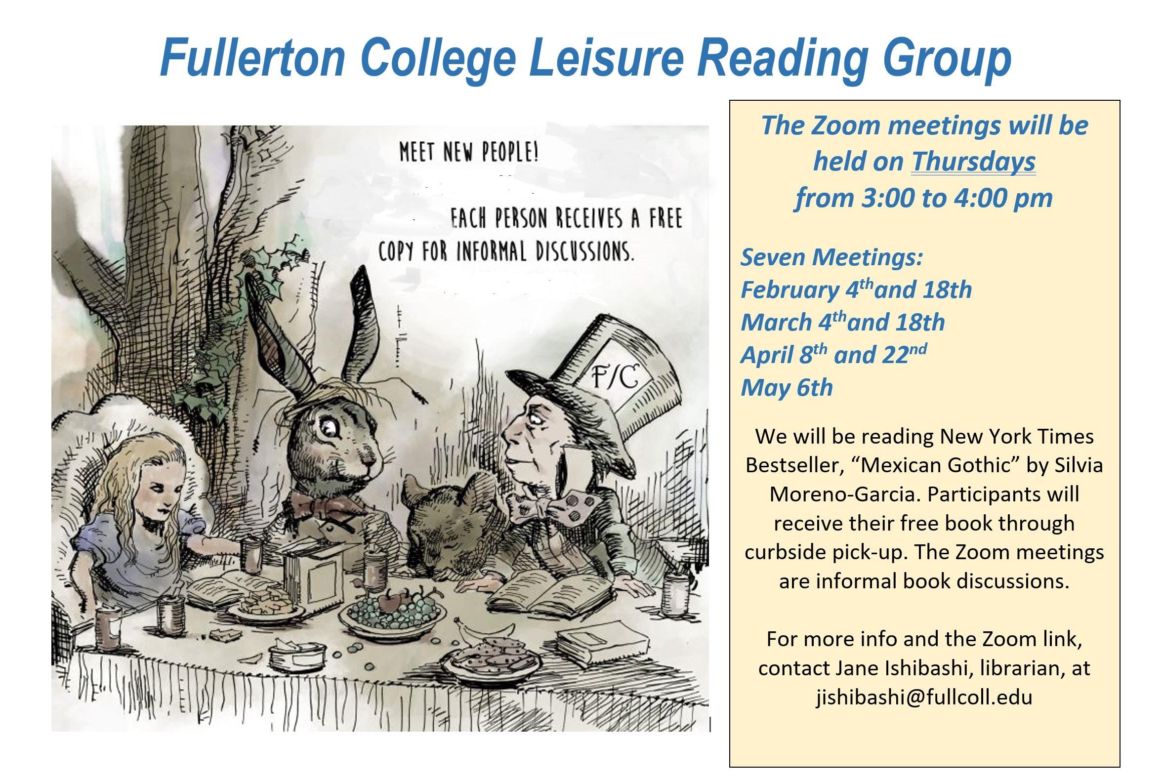 Leisure Reading Group Promo Spring 2021